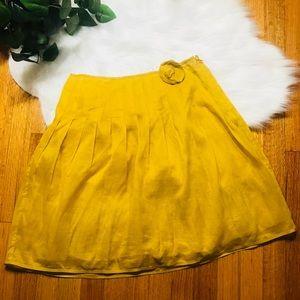J. Crew mustard A line cotton skirt